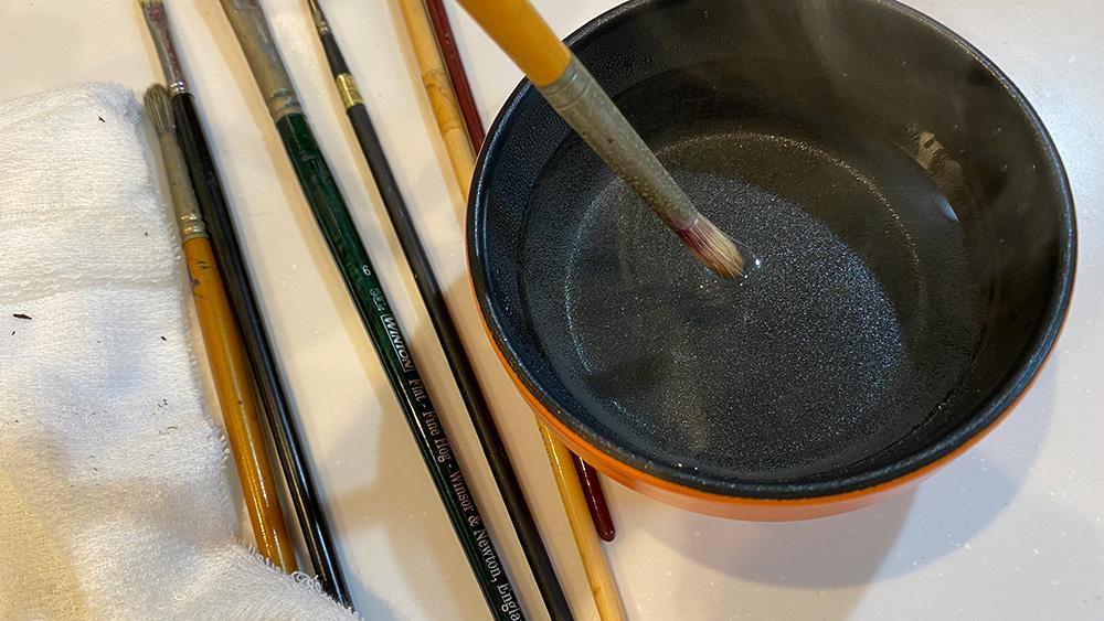 筆のお手入れ、反りの直し方。ウタマロ石鹸と熱湯風呂が最強コンビです?